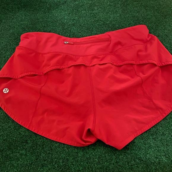 Lululemon shorts red size 10